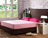 fitted sheet Bedsheet used for Beddingset Duvet Cover Set Single Double Bed Twin Full Queen Solid Color (Single Bed, 59''x78'', Pink)