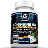 BRI Nutrition Yohimbine HCI - 180 Count 2.5mg Yohimbie Capsules