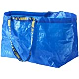 Ikea 172.283.40 Frakta Shopping Bag, Large, Blue, Set of 5