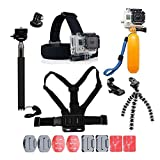 For Gopro Accessories,DDXX Gopro Accessories Kit for Gopro Hero 6 5 4 3 Hero Session and SJ4000 Xiaomi Yi DBPOWER and Other Sports Cameras (11 in 1)