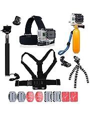 YHTSPORT per Accessori GoPro, GoPro Kit di Accessori per GoPro Hero 6543sessione Eroe e SJ4000Xiaomi Yi Dbpower e Altri Sport Fotocamere