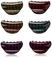 Linda Fashion Shell Shape Jaw Claws with Mesh Design, 12 Count