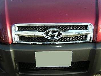 2004 - 2009 Primera Generación Hyundai Tucson delantero centro rejilla de cromo deporte plástico ABS GL JM Beijing embellecedores Guardia parachoques de ...
