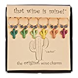 Wine Things WT-1642P Cactus, Painted Charms, Fits neatly Around stem, Multi-Color