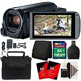 Canon VIXIA HF R800 HD Camcorder (Black) + 8GB Memory Card + Accessory Kit