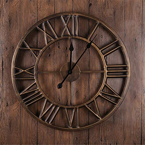 Wall Clock Vintage Roman Home Living Room Round Wall Clock 18