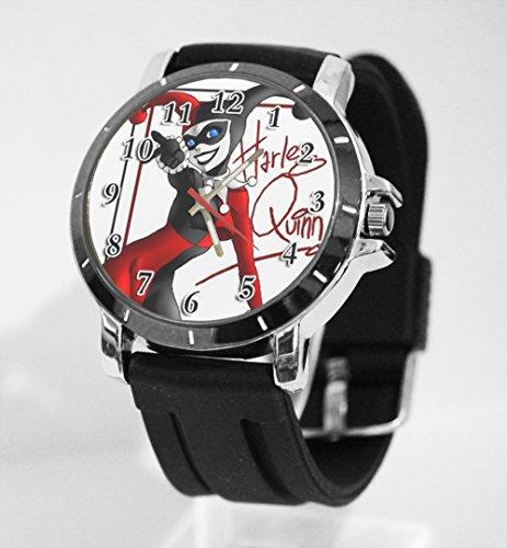 DC+Comics+Watch Products : Dc Comic Harley Quinn Wanted Batman Custom Watch Fit Your Shirt