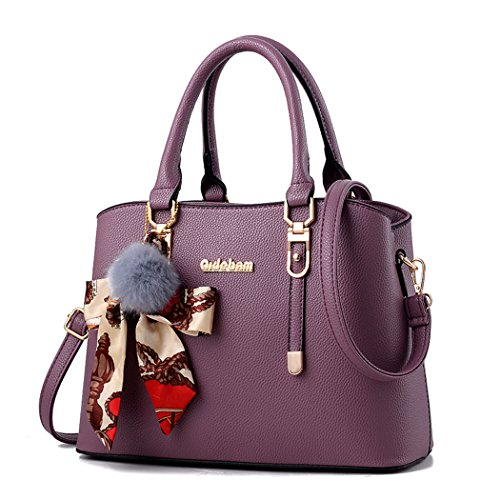 mano Bolsos Para mujer morado Bolsos Cuero Carteras de bandolera maletín Bolsos bolera Púrpura qZ6wtZ4