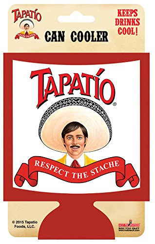 Tapatio, RESPECT THE STACHE, Officially Licensed Tapatio Hot Sauce Brand, CAN COOLER