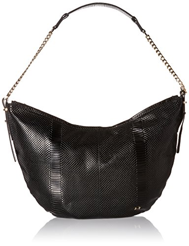 Halston Heritage Leather Hobo - Black - One Size