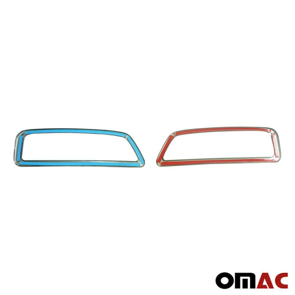 OMAC GmbH Telaio di Scarico Cromato in Acciaio Inox per 3008 SUV 2016-2019 2 TLG