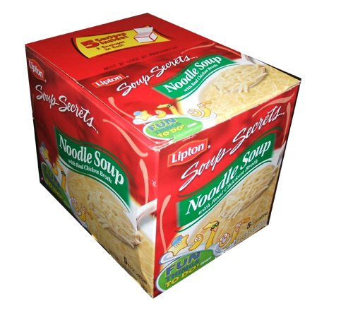 Lipton Chicken Noodle Soup Soup Secrets Made with Real Chicken 4.5 Ounce Cartons (Pack of 5)