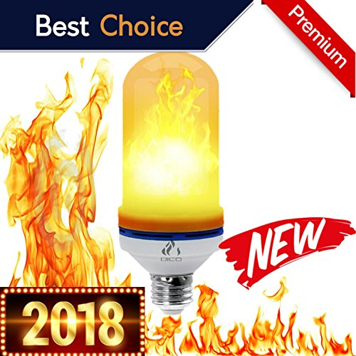 DICO  Flame effect light bulb Realistic flaming flickering fire LED E26 Atmosphere Lighting Vintage flaming light burning pack kit set lamps upside down outdoor patio garden Valentines day (Adorno De Casa Para Halloween)