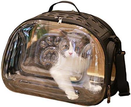 ZSY Cartera plegable transparente del gato, bolso pequeño del perro, bolso de hombro del perrito del gatito, para el coche que camina al aire libre que ...