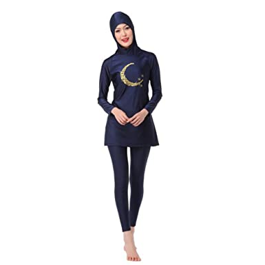 e18f493216bc7 Meijunter Islamic Muslim Women Summer Burkini Malaysia Swimwear Bathing Suit  Full Cover Attached Cap Modest Arab Middle East Hijab Swimsuit Sun  Protection ...