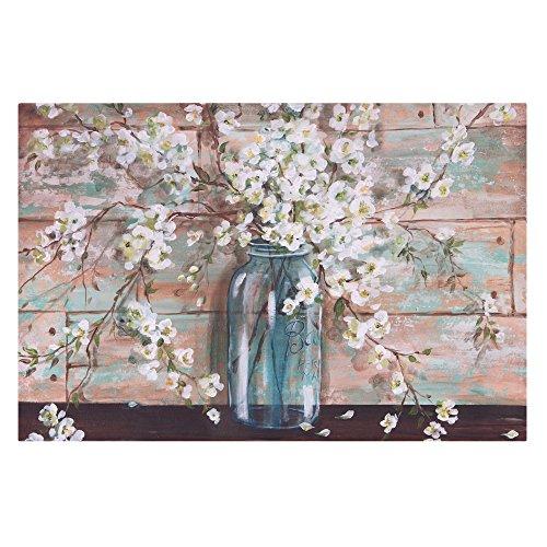(Patton Wall Decor Blooms in Mason Jar Floral Art, 24