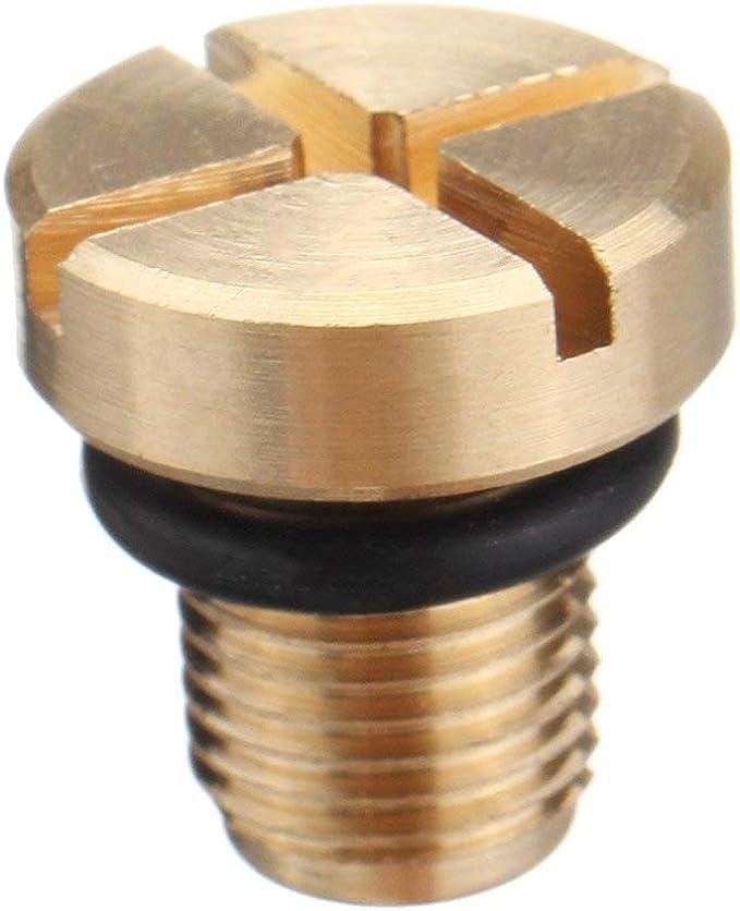 Colore: Oro Kaemma Tappo radiatore Tubo di sfiato Tappo filettato Spurgo per BMW Serie 3 E30 E36 E46 Tappo radiatore Tappo filettato Tappo filettato