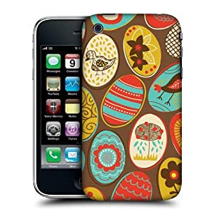 Head Case Designs Brown Egg Patterns Protective Snap-on Hard Back Case Cover for Apple iPhone 3G 3GS