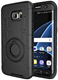 Case-Cubic 2 Galaxy S7 Edge Case,S7 Edge Holster-Dual Layer Armor Defender Protective Case Cover with kickstand Belt Swivel Clip,TPU Curved Edge to Edge HD Screen Protector for Samsung S7 Edge