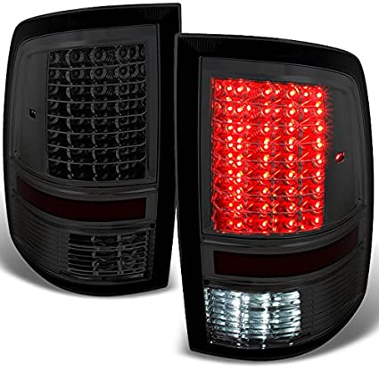amazon com dodge ram 1500 2500 3500 smoked led tail lights rh amazon com