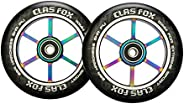 CLAS FOX 110mm One Pair Pro Stunt Scooter Wheels with ABEC-9 Bearings CNC Metal Core (2pcs)