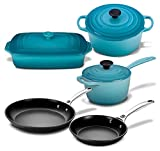 Le Creuset 8pc Cast Iron & Stoneware & Nonstick Cookware Set Deal