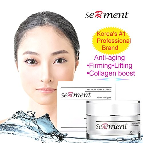 Skin Energy Hydration Delivery System - Korean Cosmetics Serment Peptide Anti Aging Cream with 17 Amino Compounds and 3 Peptides Skin Lifting and Wrinkle Remover