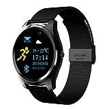 Smart Watch Men Sport Fitness Tracker Band X10 Wristwatch Heart Rate Blood Pressure Monitor Smartwatch Women Bluetooth Bracelet,Blacksteel