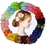 Hair Bows 40Pack hair clips hair accessories...