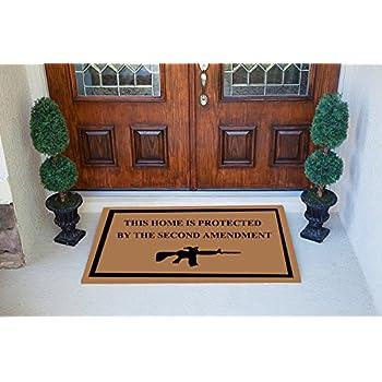 Amazon Com Crystal Emotion Second Amendment Doormat 100