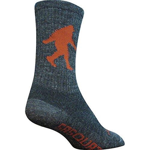 SockGuy Men's Sasquatch 6 Inch Socks, Charcoal, L/XL