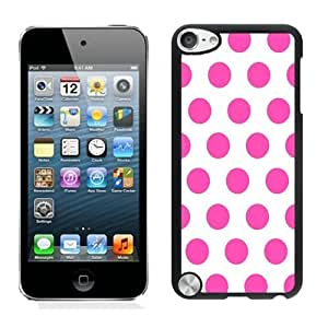discount Polka Dot White and Pink iPod touch 5 Case Black Cover