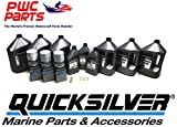MERCURY Verado Quicksilver TRIPLE ENGINE 100 Hour 25W50 Oil Change & Lower Unit Maintenance Kit Hi-Performance Gear Lube Kit w/Gaskets L6 200/225/250/275/300/350/400HP Outboard Models (25W50)