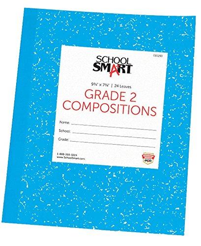 School Smart Skip-A-Line Composition Book - Grade 2 - 9 3/4 x 7 3/4 - Blue - 24 Sheets - 48 Pages (School Books Composition Grade)