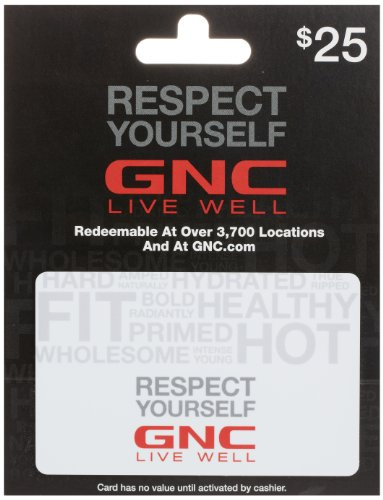 GNC Gift Card $25 - Card Canada Online Gift