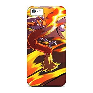 Durable Cases For The Iphone 5c- Eco-friendly Retail Packaging(blaziken Blaze Kick)