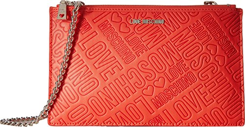 LOVE Moschino Women's Embossed Logo Pouch Bag Orange by Love Moschino