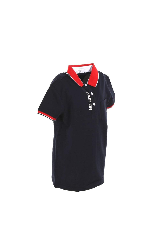 Y CLU Polo Bambino 42 Blu//Rosso By2385 Primavera Estate 2019