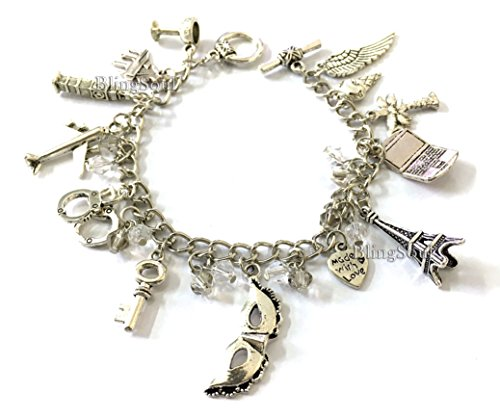 50's Halloween Costumes Ideas (FiftyShadesDarkercharm Bracelet by BlingSoul - 50 Shades Jewelry Accessories For Girls)