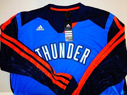 Adidas Oklahoma City Thunder Adidas On-Court Long Sleeve Shooting Shirt - Blue