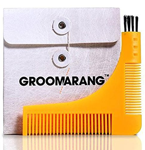 #❶ BEST Beard Styling and Shaping Template Comb Tool. Perfect for Moustache Lines, Symmetry Shape Face & Neck Line Groomarang GROOM1