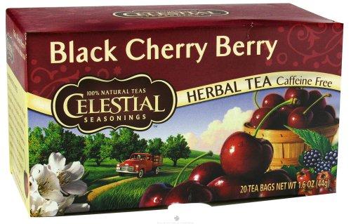- Pack of 12 x Celestial Seasonings Herbal Tea - Black Cherry Berry - Caffeine