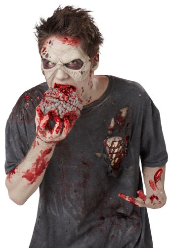 Zombie Brain (California Costumes Men's Zombie Brain Pack, Red, One Size)