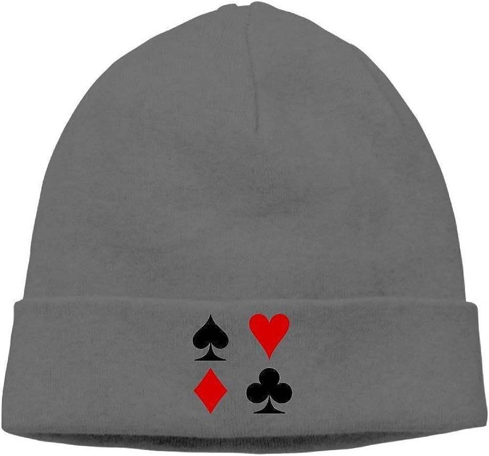 apron/&Life Poker Symbol Unisex Wool Flock Cotton Knit Winter Warm Ski Hat Beanie Cap