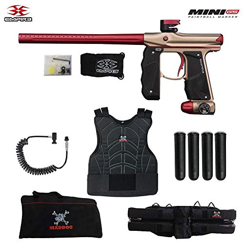 (Empire Mini GS Sergeant Paintball Gun Package - Dust Tan/Red)
