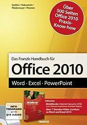 Office 2010 Handbuch: Word - Excel - PowerPoint