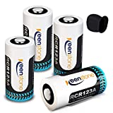 RCR123A Rechargeable Camera Batteries, Keenstone 4Pcs 750mAh Rechargeable RCR123A Li-ion Batteries with Camera Skin and Battery Case for Arlo VMS3030/3230/3330/3430 Cameras