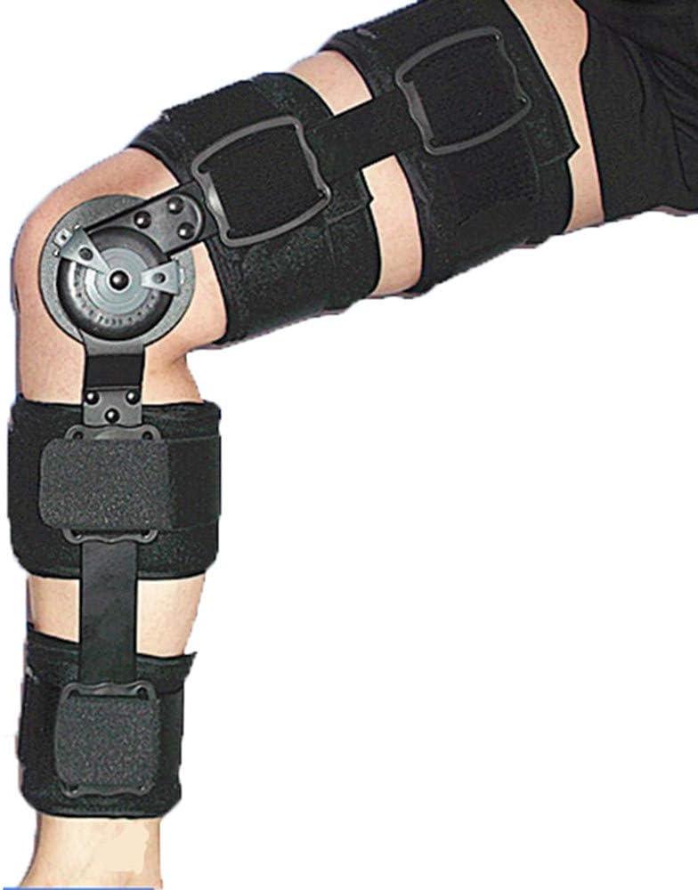 AOPAWOX Bisagras Rodillera ortopedica - Soporte de la articulación de la Rodilla Soporte de Tibia - Ortesis de la articulación de la Rodilla, Piernas Izquierda y Derecha Ajustables, Negro,M