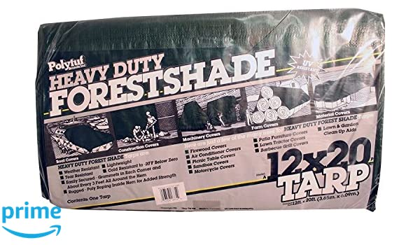 Amazon.com : DeWitt A12X20-P 4.5 oz Heavy Duty Forest Shade Tarp, 12 x 20, Green : Garden & Outdoor