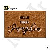MsMr Door Mat Funny Doormat Indoor/Outdoor/Kitchen Decorative Mat Non-slip Rubber Back 23.6''x15.7'' Hello There Pumpkin